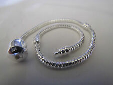 23cm XL 925 SILVER STAMPED SNAKE CHAINS FOR ALL EUROPEAN STYLE CHARM BRACELETS