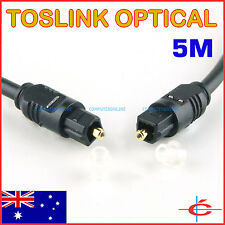 5M Toslink Digital Optical Audio Cable S/PDIF Fibre Optic Lead 5 Meters OD 4mm