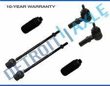 New 6-Pc Inner and Outer Tie Rod Ends + Boot Kit for Ford Escort Tempo Topaz