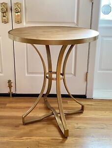 """Sterling Industries Scorpius Contemporary Gold  Oak 31"""" Tall Cafe Accent Table"""