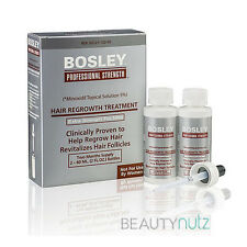 Bosley Hair Regrowth Treatment Minoxidil Solution 5% for Men (2 - 2oz Bottles)