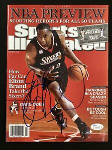 Elton Brand Signed Sports Illustrated Mag 11/23/03 No Label 76ers Autograph JSA