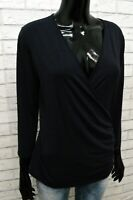 Blusa da Donna Max Mara Weekend Taglia M Maglia Camicetta Shirt Woman Blu Basic