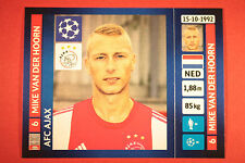 PANINI CHAMPIONS LEAGUE 2013/14 N. 583 VAN DER HOORN AJAX BLACK BACK MINT!