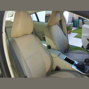 CAR SEAT COVERS (2 pcs) | Made for VOLVO | Leatherette & Synthetic | Tan Beige