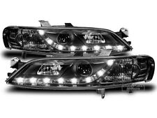 LED Headlight Set Daytime Running Light LOOK IN Black FOR Opel Vectra B 99-02