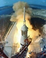 New 8x10 NASA Photo: Launch of First Lunar Landing Mission Apollo 11
