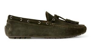 Ralph Lauren Italy Mens Harold Olive Leather Suede Tassel Loafer Driver Shoe