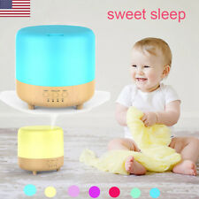500ml Essential Oil Humidifier Wood Grain Air Aromatherapy Diffuser 2 Mist Modes