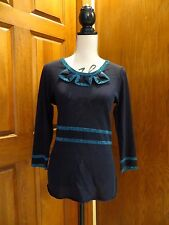MARC BY MARC JACOBS Navy Turquoise Sparkle Glitter New Years Tunic Dress Large
