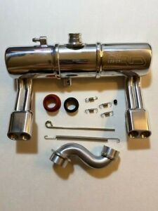 RDLogics 1 Pc Twin Exhaust Tuned Pipe 4 Traxxas Revo , fully polished