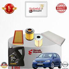Filtres Kit D'Entretien + Huile Opel Corsa C 1.7 CDTI 74KW 100CV à partir de