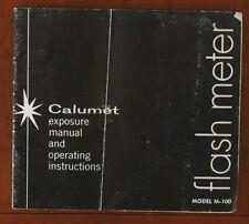 CALUMET FLASH METER M-100 MANUAL/42771