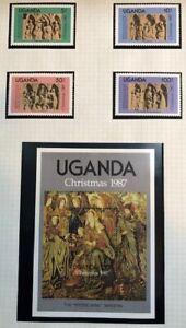 Uganda - 1987 - Christmas - Complete Set - Unmounted Mint.