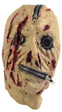 Zipper Zip Zombie Scary Horror Latex Halloween Fancy Mask Fancy Dress Costume