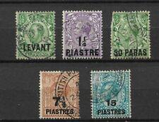 5 Timbres LEVANT - (o) - Bureaux de poste Britanniques en Turquie - (78)