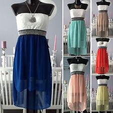 Ärmellose Mini-Damenkleider aus Viskose