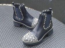 New Black Studded Spike Ankle Dealer Boots Size 7