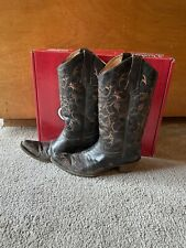 justin boots antique saddle smooth ostrich
