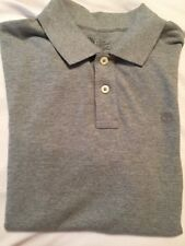 Men's Timberland Gray Short Sleeve 100% Cotton Polo Shirt, Size M