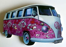 Camper Van Key Rack, Classic VW Camper Van Key Rack, Flower power key rack