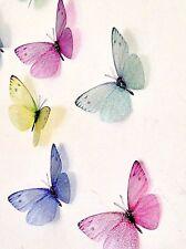 Butterfly Decals Hand Made 20 Pastel  3D Nursery Girls/ Baby Wedding Sparkling