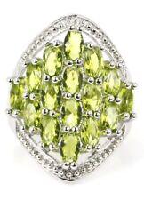 Stunning Sim Green Amethyst Crystals Silver Statement Piece Sz 7 Ring