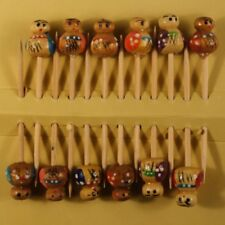 Tooth Pick Figure Wooden Bamboo Craft Cocktail Picks