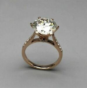 3.00Ct Round Cut diamond Gorgeous Solitaire Engagement Ring 14K Rose Gold Finish