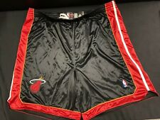 MIAMI HEAT ADIDAS BLACK GAME SHORTS SIZE 56 3XL