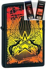 Zippo 24891 guitar wings black Lighter with *FLINT & WICK GIFT SET*