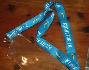 Los Angeles Chargers ticket and key lanyard NEW NFL authentic game day