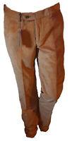 Pantalone Elegante Uomo Velluto Rigato DUCA VISCONTI Arancione Stretch 48 Drop 6