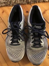 Mens Pre Owned Trainers Grey Asics Size 44 EUR