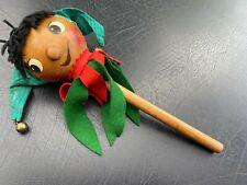 Steinbach Jester Music Box Twirl Stick Puppet German Wood Dbgm