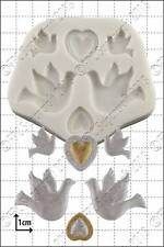 Silicone mould Doves and Hearts | Food Use FPC Sugarcraft FREE UK shipping!