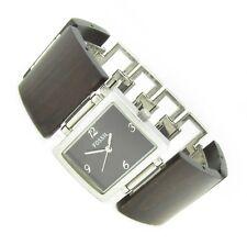 Fossil F2 Damen Armband Uhr Edelstahl Holz braun ES-1540 5ATM Batterie neu N366