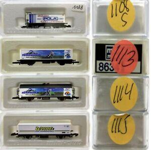 MARKLIN Z SCALE M/M 1108-1113-1114-1115  4 COLLECTOR Freight Cars Marklin BoxsC8
