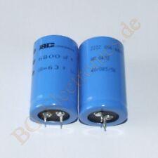 1 x 6800µf 6800uf 63v 85 ° snap en rm10 Elko condensador e-cap 30x50mm 1pcs BC