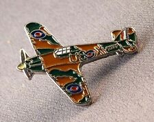 Metal Enamel Pin Badge Brooch RAF Hurricane Fighter Aeroplane Battle of Britain