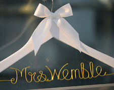Personalized Wedding Hanger, Bridal Dress Hanger with Colorful Wire Bride Name