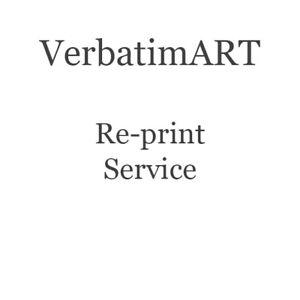 VerbatimART - Reprint service