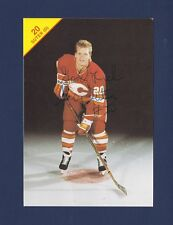 Gary Suter signed Calgary Flames vintage team issued hockey postcard