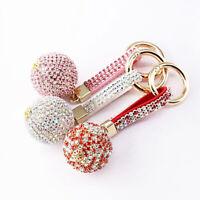 Bag Purse Car Keyrings Crystal Ball Keychains Full Rhinestone Car Key Holder