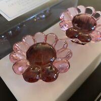 Finials/enbouts set of 2 NEW Pottery Barn Kids Crystal Daisy NIB Pink
