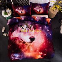 Star Wolf Duvet Quilt Doona Cover Set Queen/King/Double/Single Bed