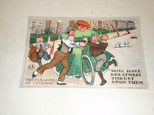 EARLY 1900s COMIC POSTCARD - FRED STONE - THE PLEASURE OF CYCLING