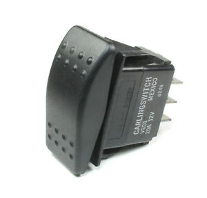 1pc Carling Momentary Rocker Switch SPDT,  20A 12VDC, (ON) OFF (ON)