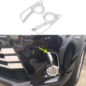 Fit for Toyota Kluger 2017-2019 Chrome Front Fog Lamp Light Cover Trim Garnish