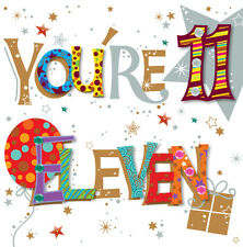 Estás once 11th Cumpleaños Tarjeta de felicitación por imágenes de las tarjetas de saludos hablando